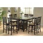Coaster Furniture - 9 Pc Counter Height Dining Table With Lazy Susan And Chairs-100438-100209-9pc