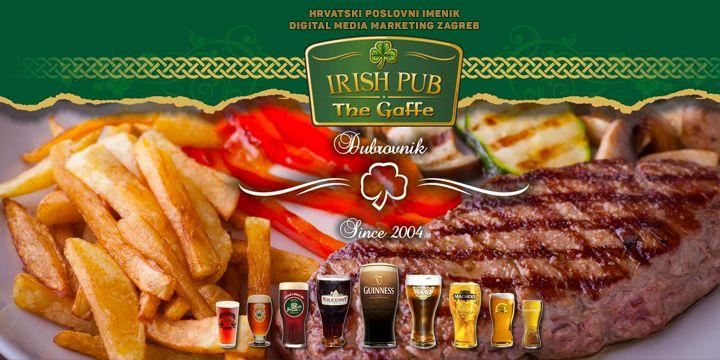 Irish Pub 8220 The Gaffe 8221 Najbolji Irski Pub Pivnica Irska Piva Engleska Piva Velika Ponuda Lokal Digital Media Marketing Irish Pub Digital Media