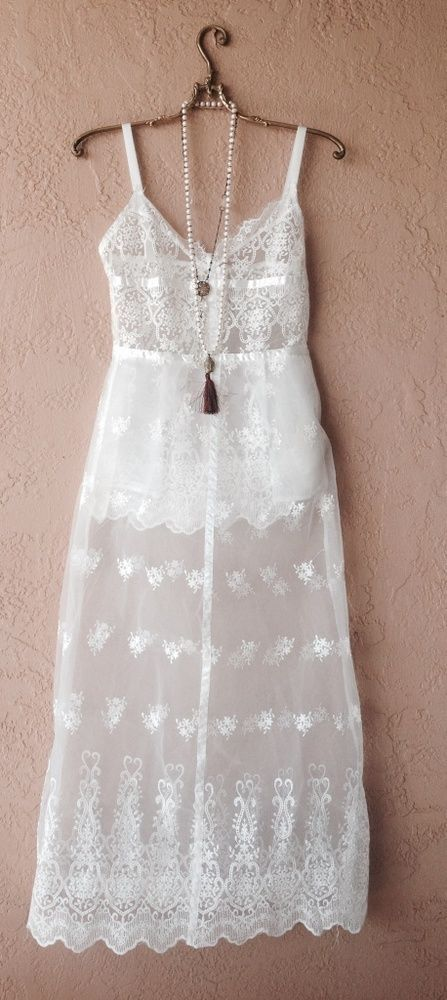 Beach Bohemian Lace maxi bride dress