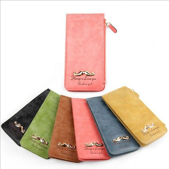2013 new fashion mustache card pack solid color Purse matte Universal men women card holder Wallet free shipping B8027