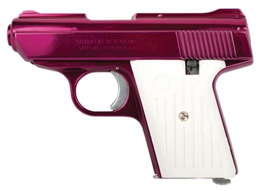 "Cobra Freedom CA .32 ACP 2.8"" Majestic Pink Finish, White Grips"