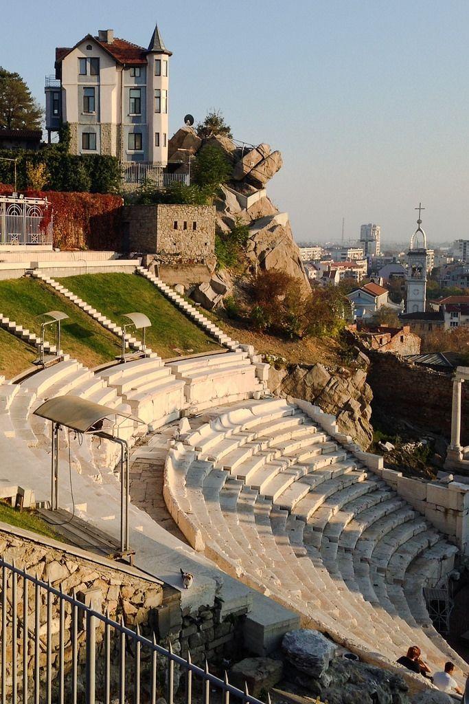 The ancient Roman theatre of Philippopolis in modern Plovdiv, Bulgaria