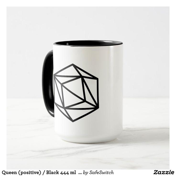Queen (positive) / Black 444 ml  Ringer Combo Mug