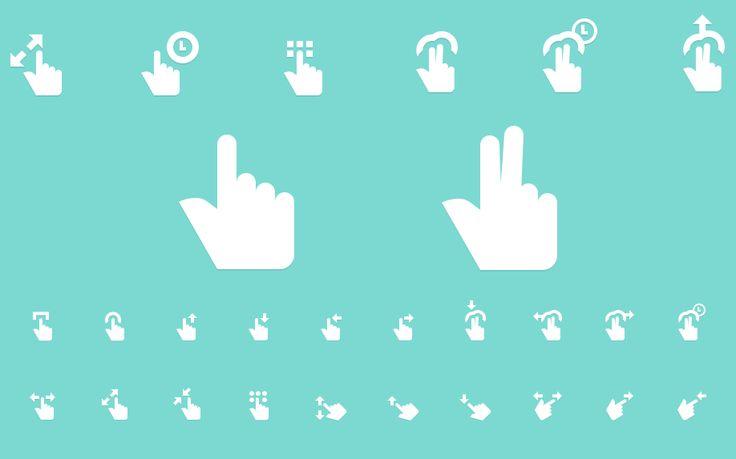 Free Gesture Icons Vol 2