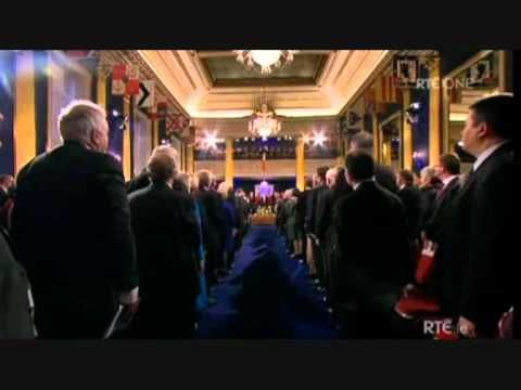 Irish National Anthem at 9th Presidential Inauguration, Dublin Castle