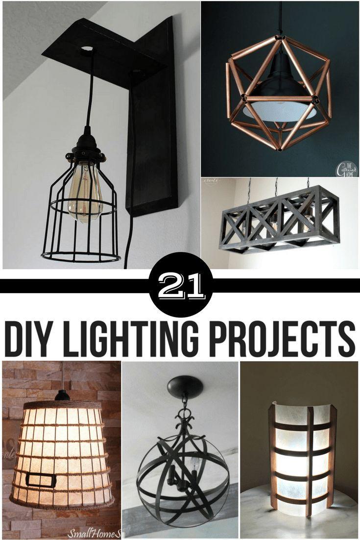 21 Diy Lighting Ideas To Brighten Your Home On A Budget Diy Sconces Diy Hanging Light Diy Chandelier