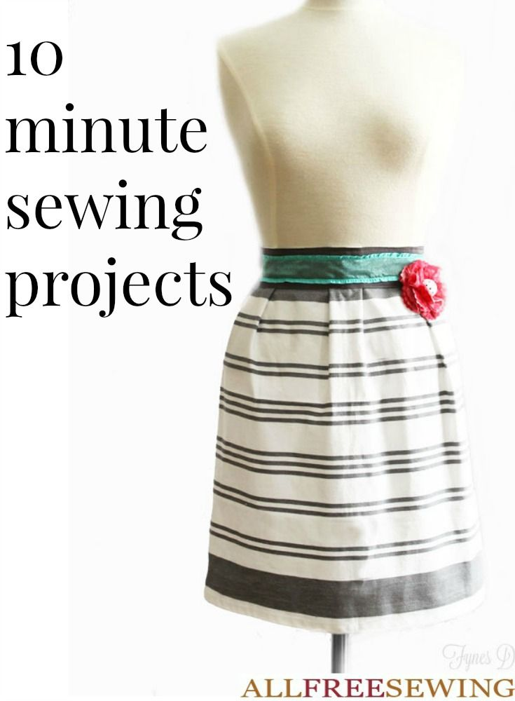 You will be surprised what kind of fast sewing projects you can create in just ten minutes. From simple embellishments to DIY fabric flowers, these easy sewing projects are the perfect quick creations to explore when you don't have a lot of time.