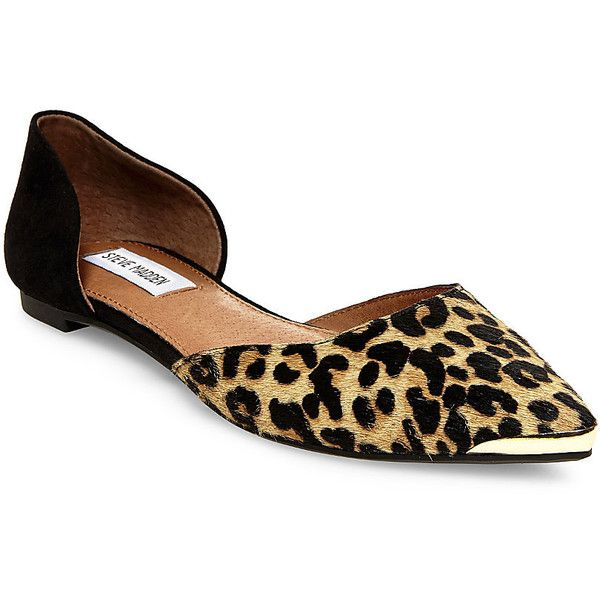 1fb6d9c97351 Steve Madden Women's Loraynal Flats ($80) ❤ liked on Polyvore featuring  shoes, flats, leopard, leopard print pointed toe flats, le…