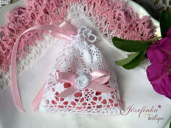 Lace romantic bagsspecial present table by JozefinkaBoutique
