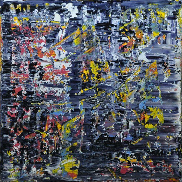 Abstract painting by Jakob Weissberg, 2014, oil on canvas, 80x80cm