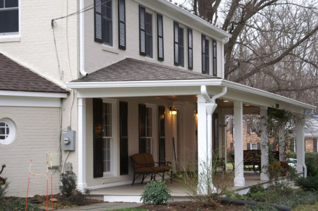 Add a covered/roofed porch to the front of your home for intense curb appeal.