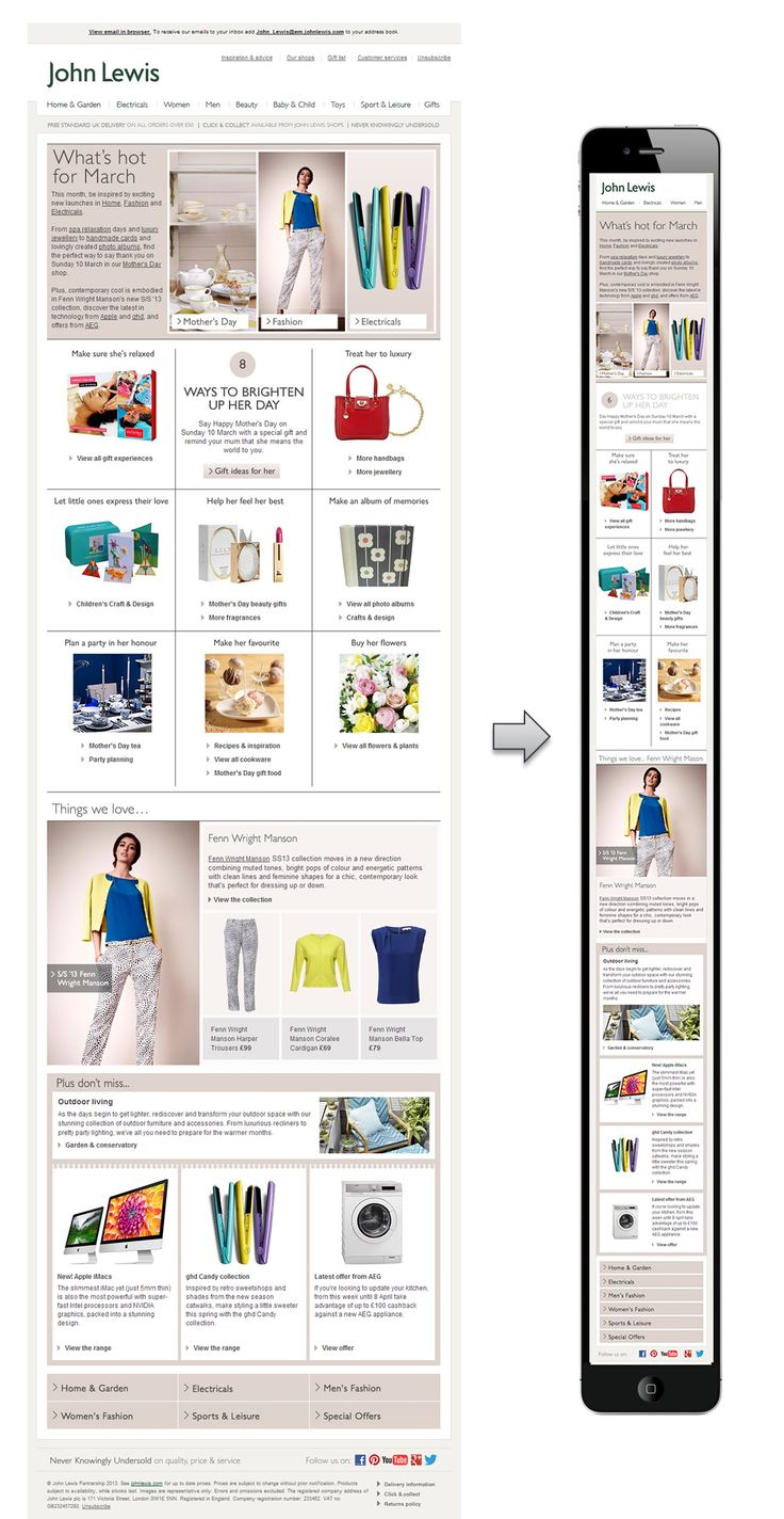 Email Inspiration: Six More Great Responsive Email Designs - Digital Marketing…