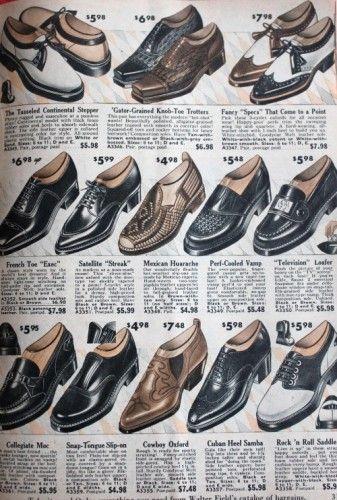 1950s mens shoes, 1958