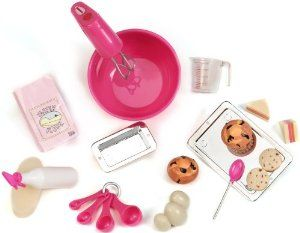 """Our Generation Kitchen Set For 18"""" Dolls by Toysmith. $119.98. Comes with loads of kitchen fun including appliances, cookware and bakeware and play food. From the fashionable and fun line of Our Generation dolls and accessories. For every Our Generation doll or accessory purchased, 10¢ goes to Free The Children's Power of a Girl Initiative. Compatible with American Girl and most 18"""" dolls and accessories. All Our Generation packaging is made from recyclable materi..."""