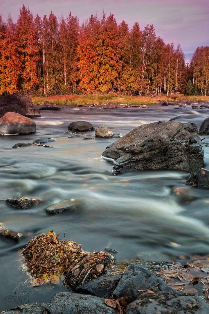 Kiiminki river in Finland