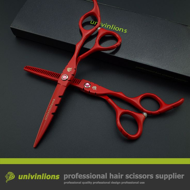 "6"" red professional japan hair scissors set razor barber hairdressing cutting thinning tijeras peluqueria salon hair sissors kit"
