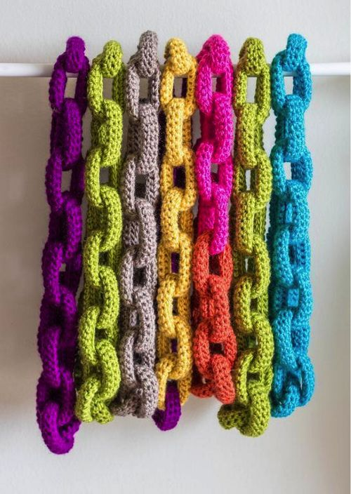 No Pattern. Crocheted Chain Link.