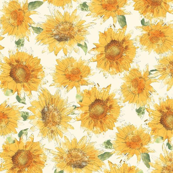 Bee My Sunshine Cream Sunflowers Sunflower Fabric Windham