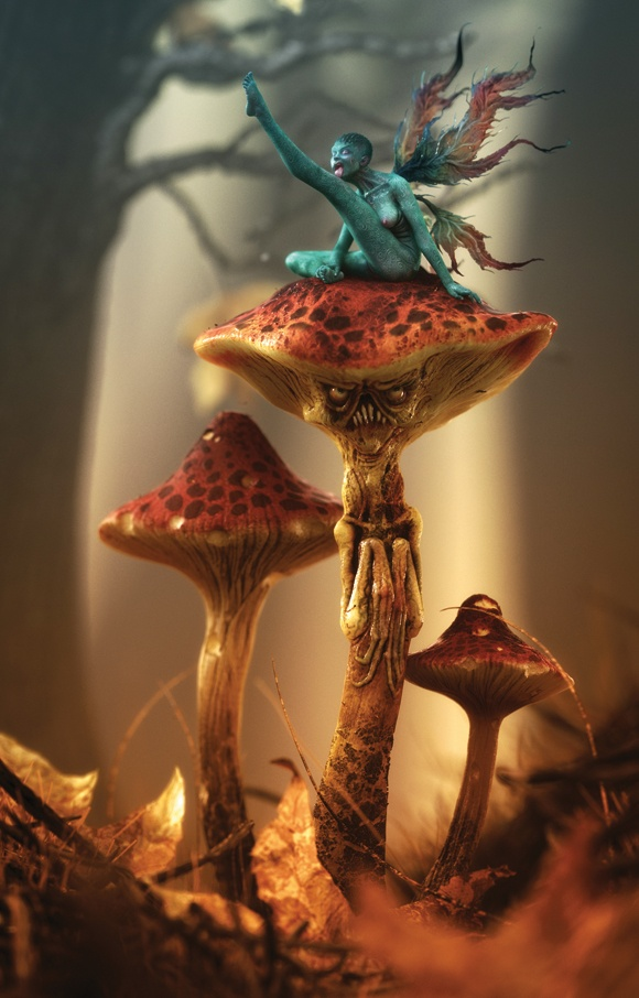 Artist: Laurent Pierlot Title: Shroom Software: 3ds Max, ZBrush and Photoshop