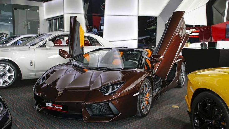 Eye-Catching Brown Lamborghini Aventador Roadster For Sale | automotive99.com