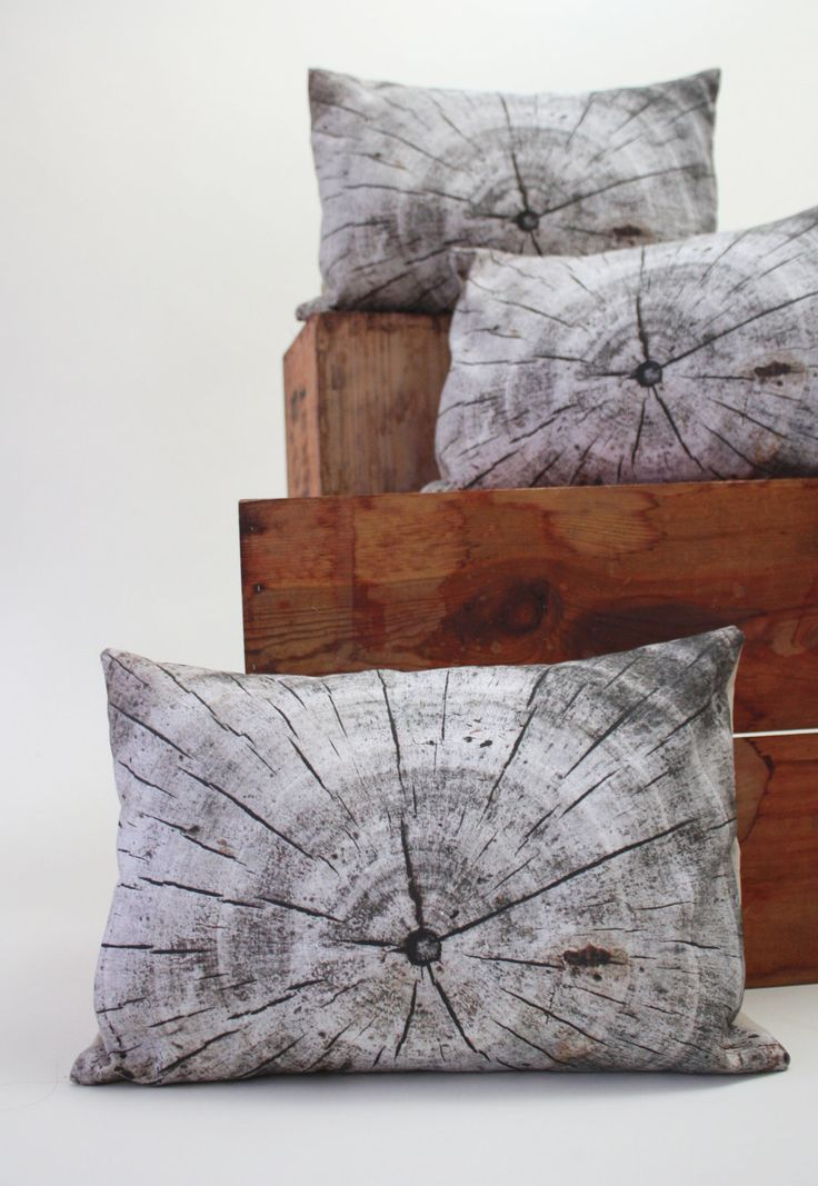 Driftwood pillow - made to order - decorative pillow - wood print. $40.00, via Etsy.: