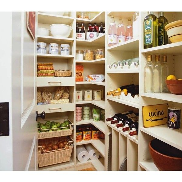 Vintage Walk In Pantry - Country - kitchen - Transform Home found on Polyvore