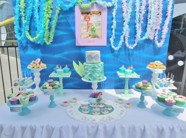 17 best images about nursery theme mermaid ideas on for Ariel birthday decoration ideas