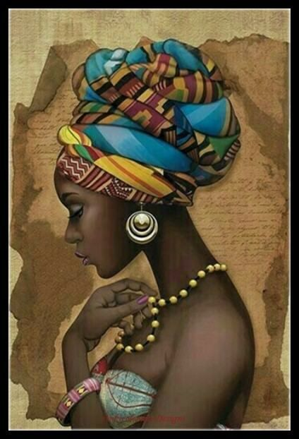Details about African Girl – DIY Chart Counted Cross Stitch Patterns Needlework embroidery