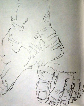 Beginner Drawing: The Blind Contour Exercise: Employing Observation to Improve Your Drawings