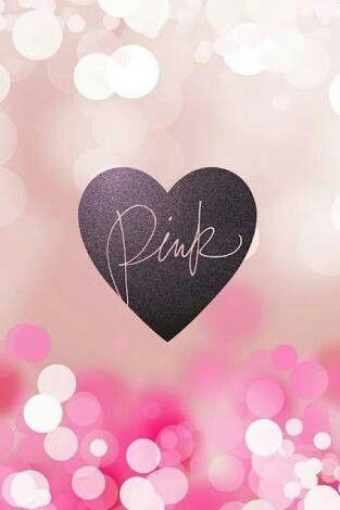 Corazón con letras Pink