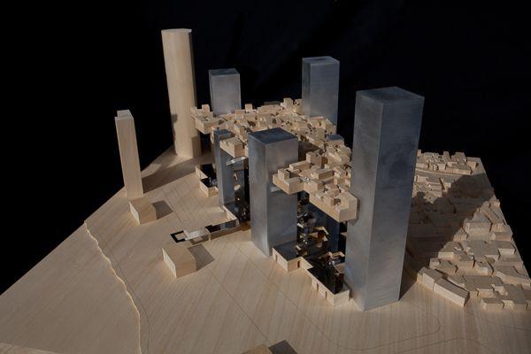 SCALE 1/500  #architecture #maquette #rotterdam #modelmaking #MBM #MVRDV