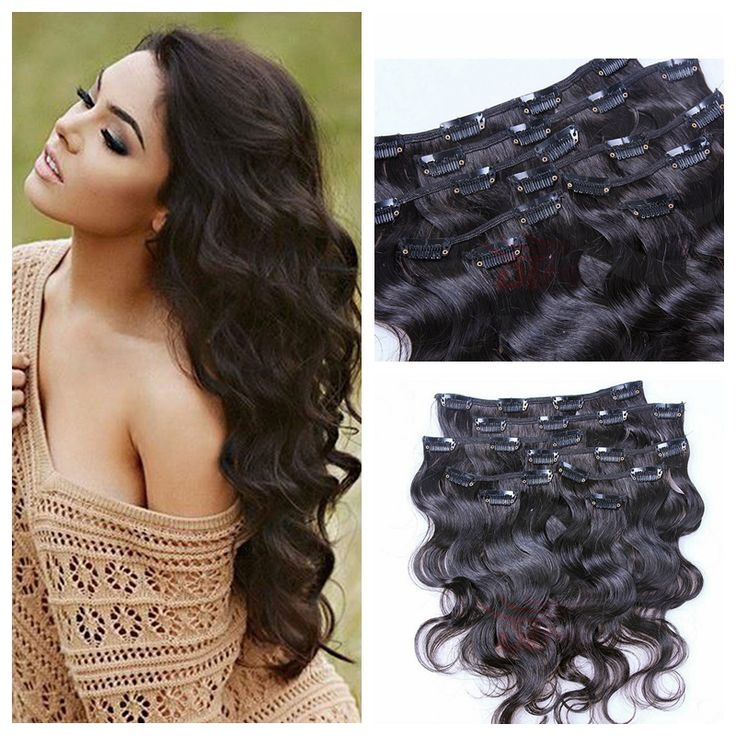 91 best clip in human hair extension images on pinterest wigs brazilian virgin hair clips in human hair extensions 100g 120g 200g 1b brazilian body wave pmusecretfo Images