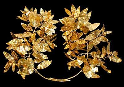 The Princess Golden crown. Mogilan mound