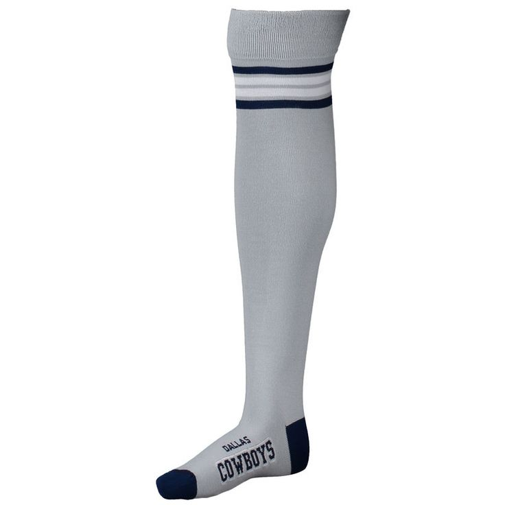 Dallas Cowboys For Bare Feet Women's Thigh-High Deuce Socks