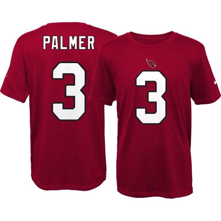 Nike Youth Arizona Carson Palmer #3 Red T-Shirt, Kids Unisex, Size: Medium, Team