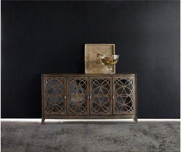 Melange Sloan Console - transitional - Media Storage - Masins Furniture