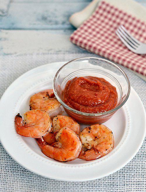 ... grilled shrimp dressed in olive oil, cracked black pepper and garlic