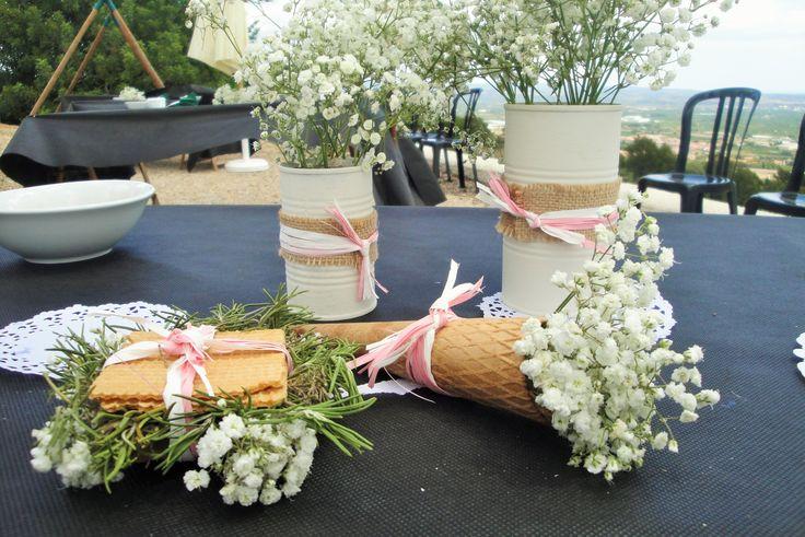 decoració taules comunió