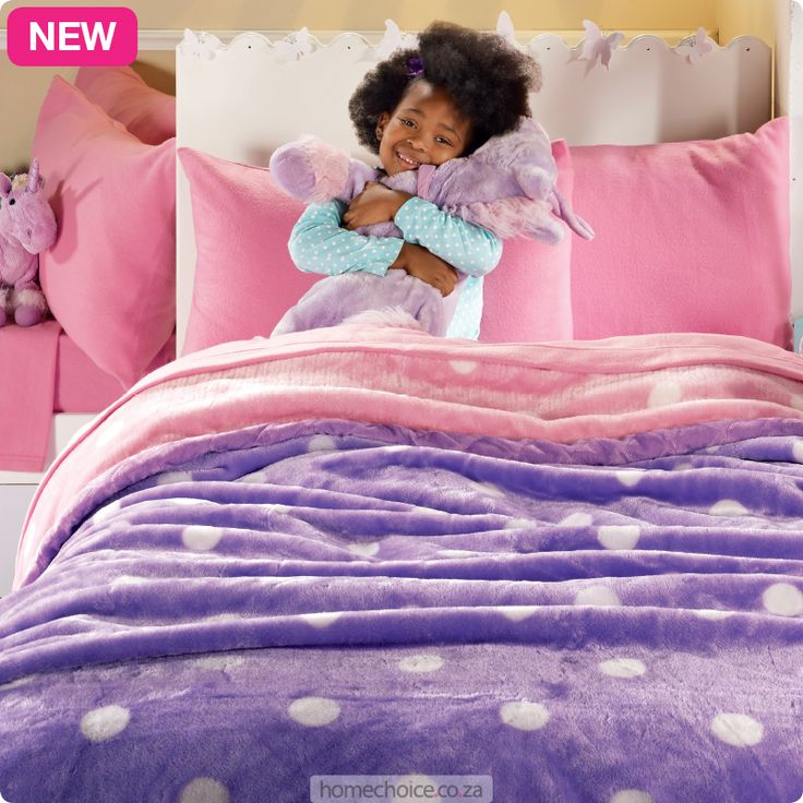 Go Dotty sheet and blanket set from R299 cash or R29 p/m. Shop http://www.homechoice.co.za/Baby-And-Kids/Girls-Bedding/Go-Dotty.aspx