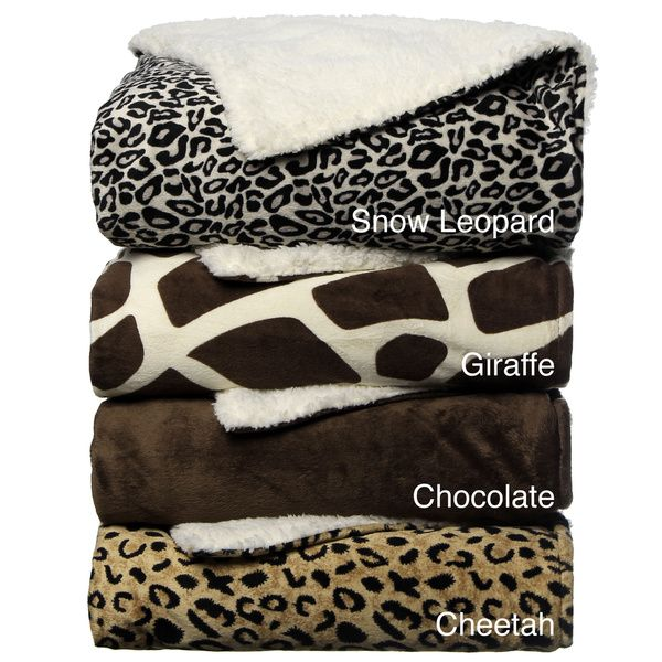 Animal Print Sherpa Decorative Throw Blanket - Overstock Shopping - Great Deals on Throws