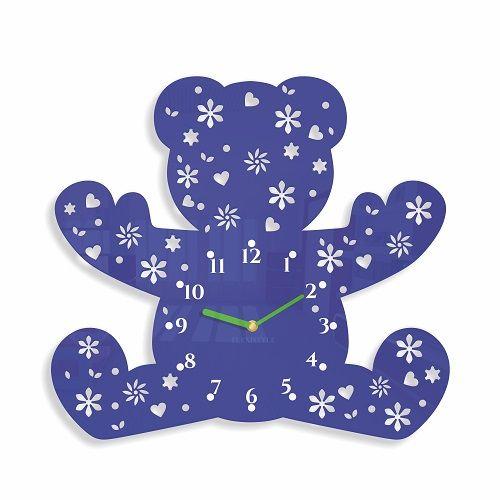 Medvedík hodiny na stenu do detskej izby
