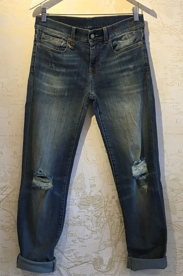 R13 Relaxed Skinny in Caldwell Blue