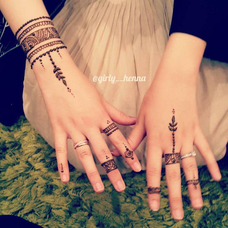 """""""Simple yet elegant ♡ . .…"""" henna mehndi design for fingers. ring design for temporary tattoo"""