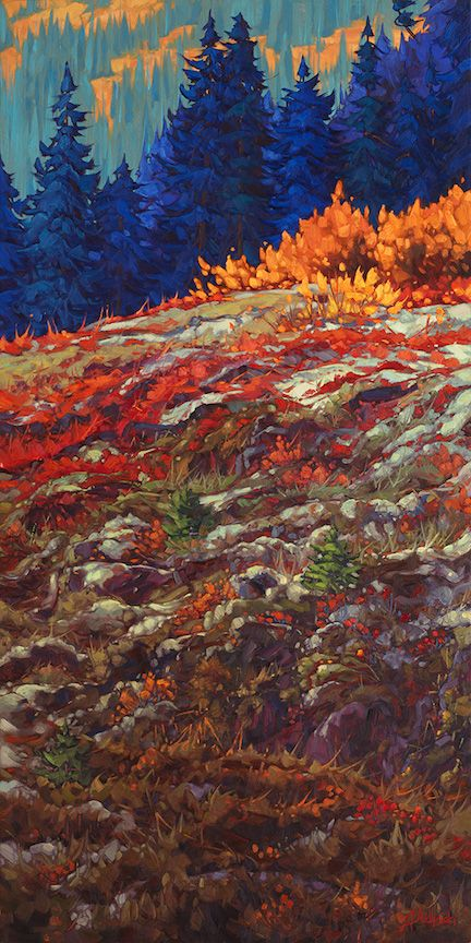 "Treading Lightly 60""x30"" oil on canvas.  Available at Canada House Gallery, Banff AB"