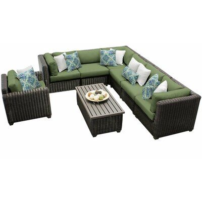 Best Sol 72 Outdoor Fairfield 8 Piece Sectional Seating Group 400 x 300