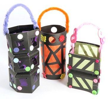 Make Christmas themed paper lanterns using Shamrock Craft's paper lanterns.