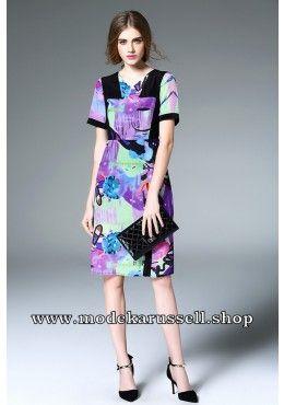 Elegantes Seiden Kleid Abendkleid Umay