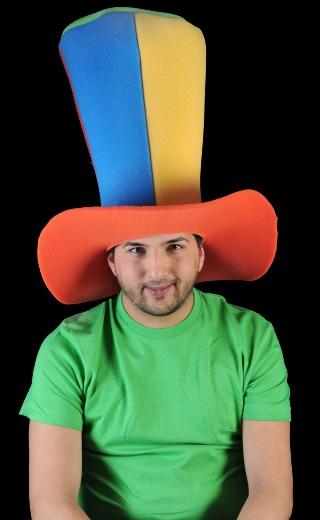 Gorro gomaespuma: Súper chistera