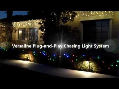 watch this video to see environmental lights versaline chasing led christmas light system in different applications and lighting effects - Chasing Led Christmas Lights