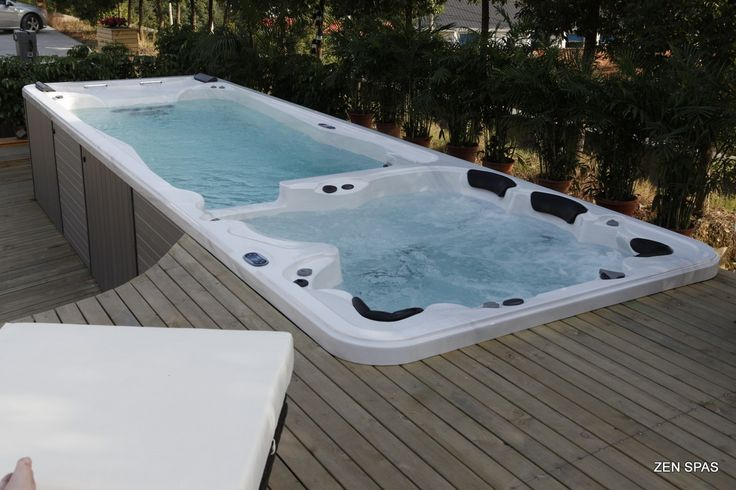 great idea to sink and give a smooth finish to the install of a swim spa but als…